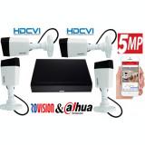 Cumpara ieftin Sistem supraveghere profesional 4 camere Rovision 5MP HDCVI ( oem dahua ) , DVR 4 canale 5MP