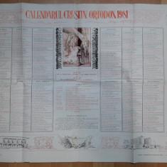 calendar vechi Crestin Ortodox 1981