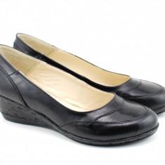 Pantofi dama piele naturala cu platforma - Made in Romania ROVI20N