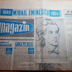 Magazin 13 iunie 1964-75 ani de la moartea lui eminescu,art. si foto orasul deva