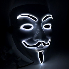 Masca led neon Anonymous V for Vendetta Guy Guido Fawkes anonimos dj +CADOU!