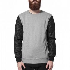 Bluza cu maneci piele ecologica barbati Urban Classics XXL EU
