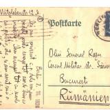 CARTE POSTALA  CORESPONDENTA GERMANIA ROMANIA STUDENT ROMAN LA BERLIN