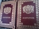 Acatistier in piele, Octoih Mare, Molitfelnic, Liturghier, Panihida Triodul