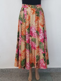 Fusta dama-EXQUISE, 40, Bej & Imprimeu floral