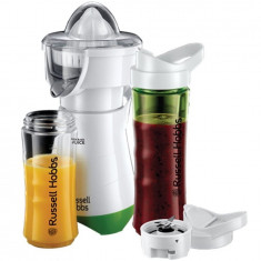 Blender cu storcator de citrice 21352-56 Mix & Go Juice , 300 W, 2 sticle, 2 conuri, Alb/Verde