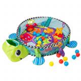 Tarc de joaca pentru copii tip piscina, model Broscuta, cu 30 bile multicolor, 100x68x50cm, verde, Ecotoys