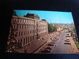 Carte postala - Sibiu- RSR - Hotel Bulevard - Parcare , auto vechi - necirculata, Printata