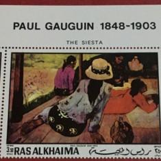 RAS AL KHAIMA, PICTURA GAUGUIN - SERIE COMPLETĂ MNH