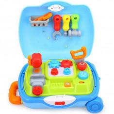 Set troler Hola Toys Micul Mester, cu accesorii