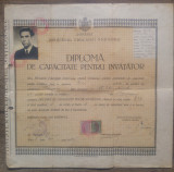 Diploma de capacitate pentru invatator/ Timisoara 1947