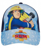 Sapca Pompierul Sam, 54 cm (7-10/12 ani), bleumarin/ bleu