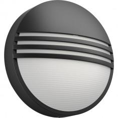 Aplica LED integrat pentru exterior Philips Yarrow, 1x6W, 600 lm, lumina calda, Antracit