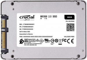 SSD Crucial MX500 500GB SATA3 2.5 inch 7mm + Adaptor 9.5mm