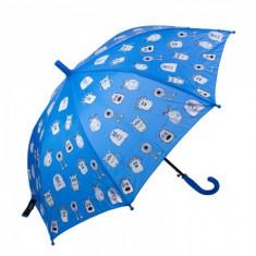 Umbrela pentru fete, automata Pami Monster 80 cm Albastru