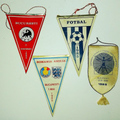 Lot 4 fanioane sport fotbal 1984-1985 Nationala Dinamo club