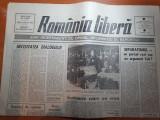 Ziarul romania libera 24 februarie 1990-greva pe aeroportul otopeni