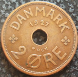Moneda istorica 2 ORE - DANEMARCA, anul 1927   *cod 4359 = excelenta