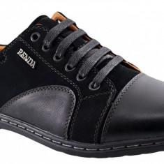 Pantofi Casual Barbatesti negri Renda, 39 - 42