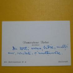 Cartea de vizită a scriitorului Demostene Botez