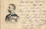 ROMANIA 1901-CAROL I-carte postala circulata de la Bucuresti la Roznov, Printata