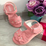 Cumpara ieftin Sandale roz elegante cu fluturasi pt fetite 25 27 30 31 32 33 34 35 36