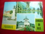 Ilustrata Fagaras si Sambata de Sus -cu 3 vederi-, Circulata, Printata