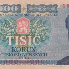 Cehoslovacia 1000 korun 1985  P.98a VF