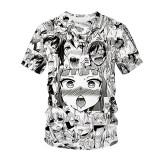 Tricou Unisex Sexy Ahegao Imprimeu Porn Shirt Obscene Lady Lust Lingerie, Alb, M