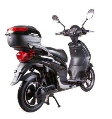 Bicicleta electrica, tip scuter, fara carnet si inmatriculare ZT-09-C CLASSIC ARGINTIU foto
