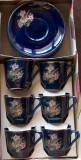 serviciu cafea - 6 ceşcuţe cu farfurioare, anii '80