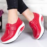 Pantofi Piele Visva rosii -mr -rl