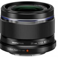 Obiectiv Olympus M.ZUIKO DIGITAL 25mm, f/1.8 (Negru)