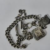 Bratara argint vintage cu chamuri -1547