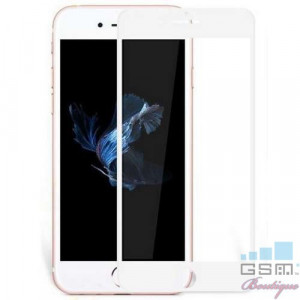 Folie Sticla iPhone 7 Plus Acoperire Completa Alba