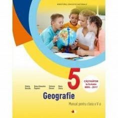 Geografie. Manual. Clasa a V-a (contine CD), litera