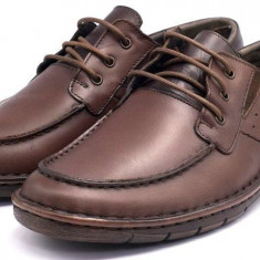 Pantofi Casual Barbati din piele VIC2130, 39 - 44, Maro