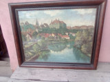 Tablou Sighisoara/ulei/cart./