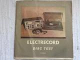 disc test stereo disc vinyl lp electrecord ST EXE 02689