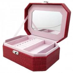 Caseta Bijuterii rosie / negru Labonita WZ1219