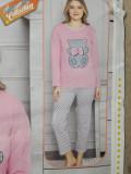 Cumpara ieftin Pijama dama cu maneca lunga si pantaloni lungi '' Bear'' cod 823