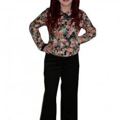 Pantalon de toamna, nuanta de negru, design deosebit