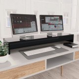 Suport monitor, negru foarte lucios, 100 x 24 x 13 cm, PAL
