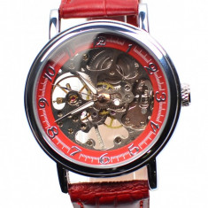 Ceas mecanic barbati, casual, elegant GOER Maro G001RED