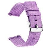 Curea material textil, compatibila cu Huawei Watch GT, Telescoape QR, 22mm, Lilac Purple
