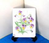 Tablou (Aplica) ceramica basorelief, decor emailat - semnat Aimo, JIE Gantofta