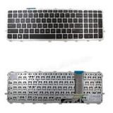 Cumpara ieftin Tastatura laptop noua HP ENVY 15-j series Silver Frame Black WIN 8 US