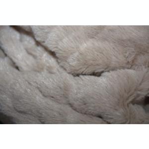 Fular Lenna cu insertii de blanita,model cilcular,nuanta de maro