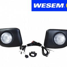 Set 2 proiectoare auto Wesem pentru Daewoo Matiz lumini de zi in bara , bec P21W cu cablaj si comutator
