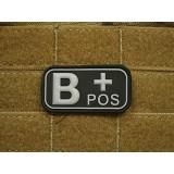 "Patch Bloodtype ""B POS"" cauciuc, SWAT JTG, JG"